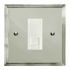 Edwardian RJ45 Socket CAT 5 Polished Nickel