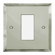 Edwardian Plate for Modular Electrical Components 50x25mm Polished Nickel