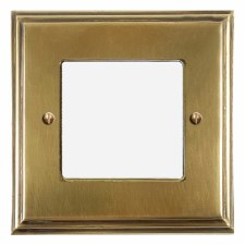 Edwardian Plate for Modular Electrical Components 50x50mm Antique Satin Brass