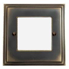 Edwardian Plate for Modular Electrical Components 50x50mm Dark Antique Relief