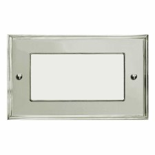Edwardian Plate for Modular Electrical Components 50x100mm Polished Nickel