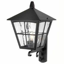 Elstead Edinburgh Outdoor Wall Up Light Lantern Black