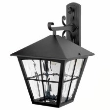 Elstead Edinburgh Outdoor Wall Light Lantern Black