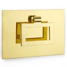 Croft Edinburgh Front Door Handle 1931 Polished Brass Unlacquered