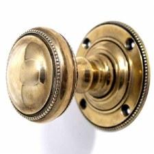 Edinburgh Door Knobs Brass Renovated Brass Look