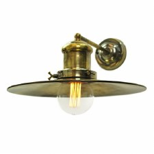 Edison Large Single Wall Light Antique Brass