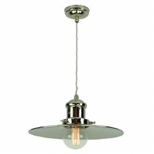 Edison Large Single Pendant Polished Nickel