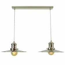 Edison Large 2 Light Bar Pendant Polished Nickel
