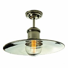Edison Large Semi Flush Ceiling Light Polished Nickel