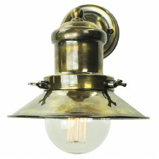 Edison Small Single Wall Light Antique Brass