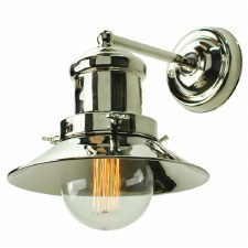 Edison Small Single Wall Light Polished Nickel