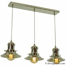 Edison Small 3 Light Bar Pendant Polished Nickel