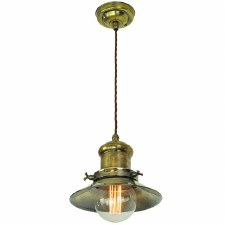 Edison Small Single Pendant Light Antique Brass