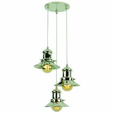 Edison Small 3 Light Cluster Pendant Polished Nickel