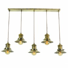Edison Small 5 Light Bar Pendant Antique Brass