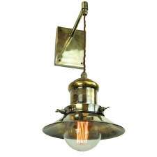 Edison Small Suspended Wall Light Antique Brass