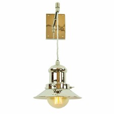 Edison Small Suspended Wall Light Polished Nickel