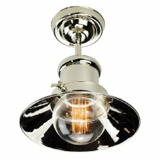 Edison Small Semi Flush Ceiling Light Polished Nickel