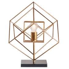 Edmondsham Framed Table Lamp Antique Gold & Black Marble