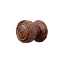 Edwardian Cupboard Knob 32mm Teak Wood