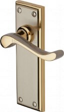 Heritage Edwardian Door Handles W3213 Jupiter Nickel/Gold