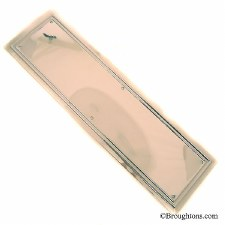 Edwardian Finger Plate Antique Nickel