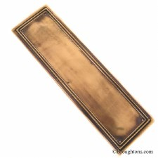 Edwardian Finger Plate Renovated Brass