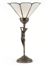 Eliza Art Nouveau Uplight Table Lamp