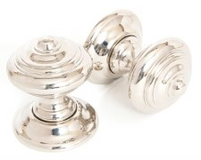 From The Anvil Elmore Concealed Fix Mortice Knobs Polished Nickel