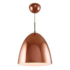 Copper Pendant Ceiling Light 250mm Diameter