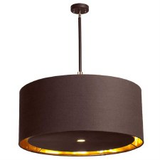 Elstead Balance XL Pendant Light Brown/Polished Brass
