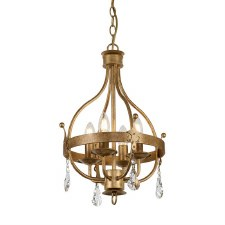 Elstead Windsor Pendant/Chandelier 4 Light Gold Patina