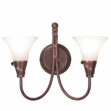 Elstead Emily Double Wall Light Copper Patina