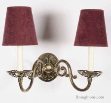 Empire Double Wall Light Candle, Light Antique