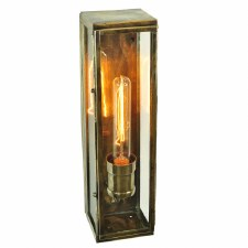 Engineer Wall Lamp Large Antique Brass