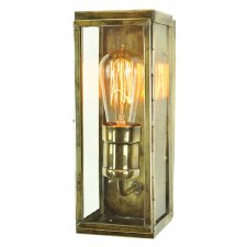 Engineer Wall Lamp Small Antique Brass