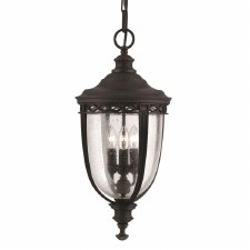 Feiss English Bridle Porch Lantern Light Large Black