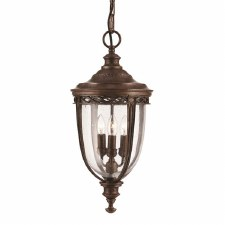 Feiss English Bridle Porch Lantern Light Large Bronze