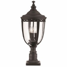 Feiss English Bridle Large Pedestal Lantern Light Black