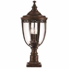 Feiss English Bridle Large Pedestal Lantern Light Bronze