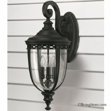Feiss English Bridle Outdoor Wall Light Lantern Large Black