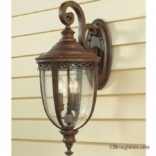Feiss English Bridle Outdoor Wall Light Lantern Large Bronze