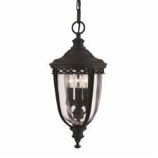 Feiss English Bridle Porch Lantern Light Medium Black
