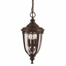 Feiss English Bridle Porch Lantern Light Medium Bronze