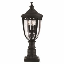 Feiss English Bridle Medium Pedestal Lantern Light Black