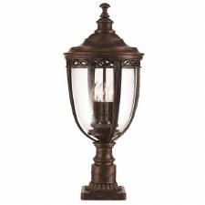 Feiss English Bridle Medium Pedestal Lantern Light Bronze