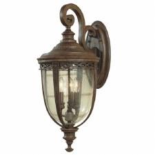 Feiss English Bridle Outdoor Wall Light Lantern Medium Bronze