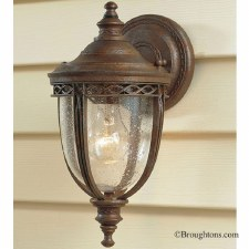 Feiss English Bridle Outdoor Wall Light Lantern Small Bronze