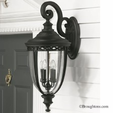 Feiss English Bridle Outdoor Wall Light Lantern Extra Large Black
