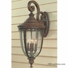 Feiss English Bridle Outdoor Wall Light Lantern Extra Large Bronze